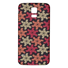 Floral Seamless Pattern Vector Samsung Galaxy S5 Back Case (White)