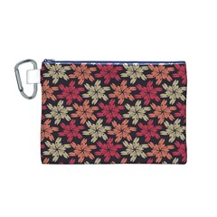 Floral Seamless Pattern Vector Canvas Cosmetic Bag (M)