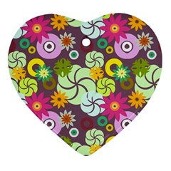 Floral Seamless Pattern Vector Ornament (Heart)