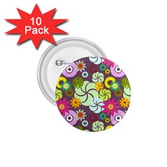 Floral Seamless Pattern Vector 1.75  Buttons (10 pack)