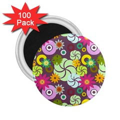 Floral Seamless Pattern Vector 2.25  Magnets (100 pack)