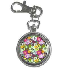 Floral Seamless Pattern Vector Key Chain Watches