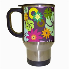 Floral Seamless Pattern Vector Travel Mugs (white)