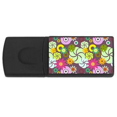 Floral Seamless Pattern Vector USB Flash Drive Rectangular (4 GB)