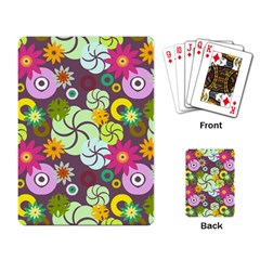 Floral Seamless Pattern Vector Playing Card
