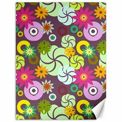 Floral Seamless Pattern Vector Canvas 12  x 16