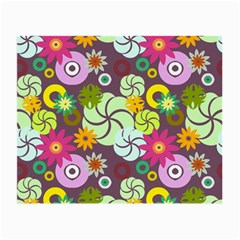 Floral Seamless Pattern Vector Small Glasses Cloth (2 Side)
