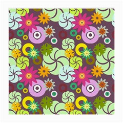 Floral Seamless Pattern Vector Medium Glasses Cloth (2-Side)