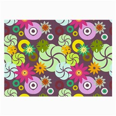 Floral Seamless Pattern Vector Large Glasses Cloth (2 Side)
