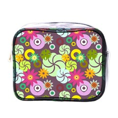 Floral Seamless Pattern Vector Mini Toiletries Bags