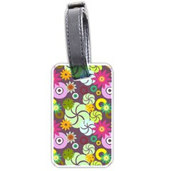 Floral Seamless Pattern Vector Luggage Tags (two Sides)