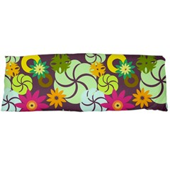 Floral Seamless Pattern Vector Body Pillow Case (dakimakura)