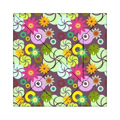 Floral Seamless Pattern Vector Acrylic Tangram Puzzle (6  x 6 )