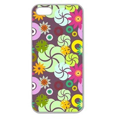 Floral Seamless Pattern Vector Apple Seamless Iphone 5 Case (clear)