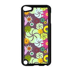 Floral Seamless Pattern Vector Apple iPod Touch 5 Case (Black)