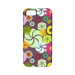 Floral Seamless Pattern Vector Apple iPhone 5 Classic Hardshell Case (PC+Silicone)