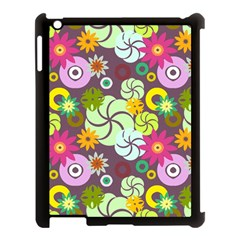 Floral Seamless Pattern Vector Apple iPad 3/4 Case (Black)