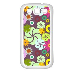 Floral Seamless Pattern Vector Samsung Galaxy S3 Back Case (white)