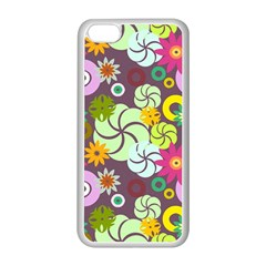 Floral Seamless Pattern Vector Apple Iphone 5c Seamless Case (white)