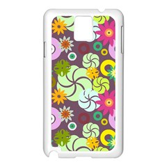 Floral Seamless Pattern Vector Samsung Galaxy Note 3 N9005 Case (white)