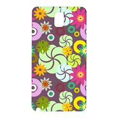 Floral Seamless Pattern Vector Samsung Galaxy Note 3 N9005 Hardshell Back Case