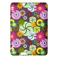 Floral Seamless Pattern Vector Kindle Fire HDX Hardshell Case