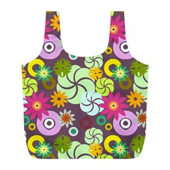 Floral Seamless Pattern Vector Full Print Recycle Bags (l)