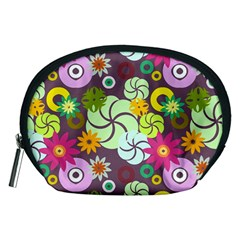 Floral Seamless Pattern Vector Accessory Pouches (Medium)