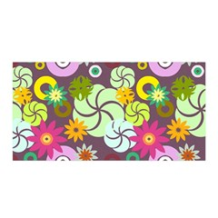 Floral Seamless Pattern Vector Satin Wrap