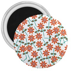 Floral Seamless Pattern Vector 3  Magnets