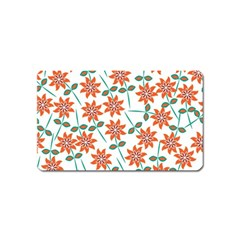 Floral Seamless Pattern Vector Magnet (name Card)