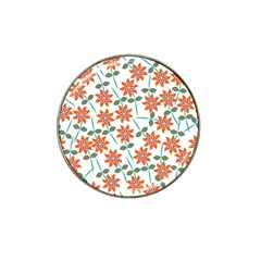 Floral Seamless Pattern Vector Hat Clip Ball Marker (10 pack)