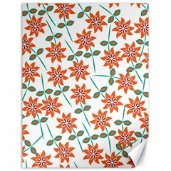 Floral Seamless Pattern Vector Canvas 18  x 24
