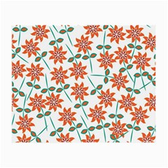 Floral Seamless Pattern Vector Small Glasses Cloth (2-Side)