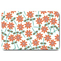 Floral Seamless Pattern Vector Large Doormat