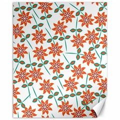 Floral Seamless Pattern Vector Canvas 11  x 14