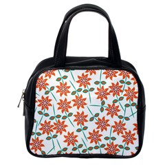Floral Seamless Pattern Vector Classic Handbags (One Side)