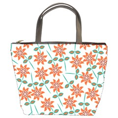 Floral Seamless Pattern Vector Bucket Bags
