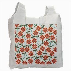 Floral Seamless Pattern Vector Recycle Bag (Two Side)