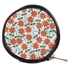 Floral Seamless Pattern Vector Mini Makeup Bags