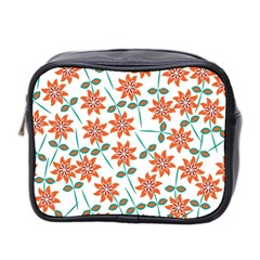 Floral Seamless Pattern Vector Mini Toiletries Bag 2 Side