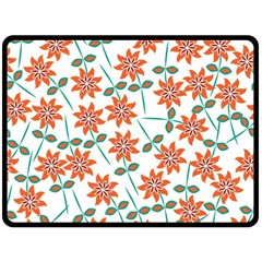 Floral Seamless Pattern Vector Fleece Blanket (large)