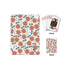 Floral Seamless Pattern Vector Playing Cards (Mini)