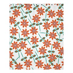 Floral Seamless Pattern Vector Shower Curtain 60  x 72  (Medium)