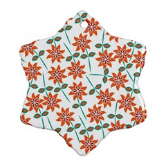 Floral Seamless Pattern Vector Ornament (Snowflake)