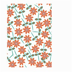 Floral Seamless Pattern Vector Large Garden Flag (two Sides)