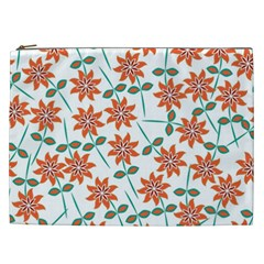 Floral Seamless Pattern Vector Cosmetic Bag (XXL)