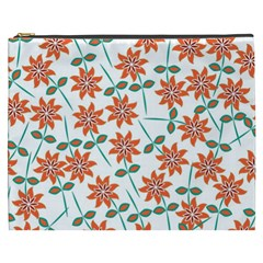 Floral Seamless Pattern Vector Cosmetic Bag (xxxl)
