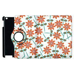 Floral Seamless Pattern Vector Apple Ipad 2 Flip 360 Case
