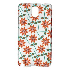 Floral Seamless Pattern Vector Samsung Galaxy Note 3 N9005 Hardshell Case